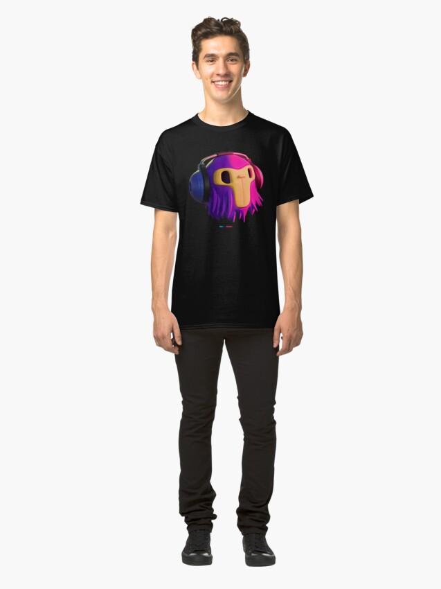 Vista alternativa de Camiseta clásica Dj Monkey by Fran Ferriz
