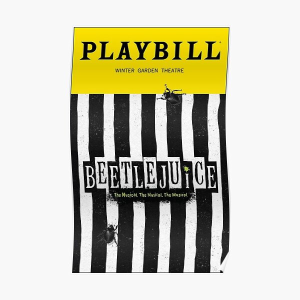 Beetlejuice Musical Posters Redbubble