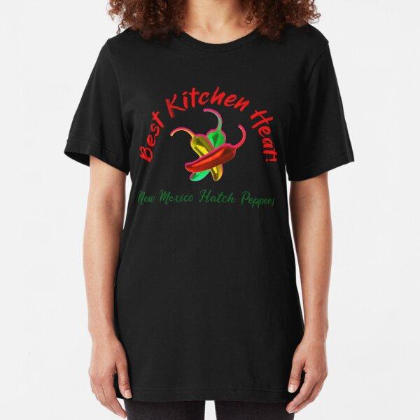 Best Kitchen Heat, Hatch Peppers Slim Fit T-Shirt
