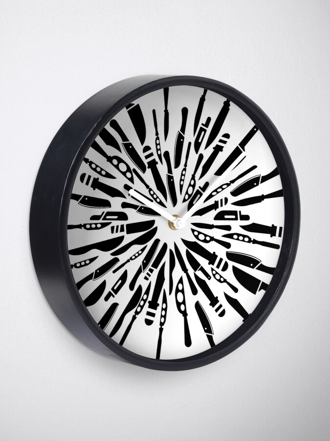 Alternate view of Knife Art, Knives Out Clock