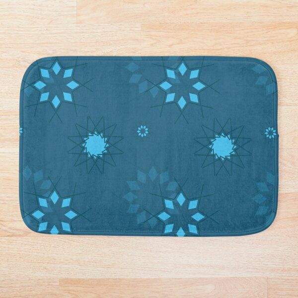 Seasonial winter vector with Snowflakes and other hand drawn images Bath Mat