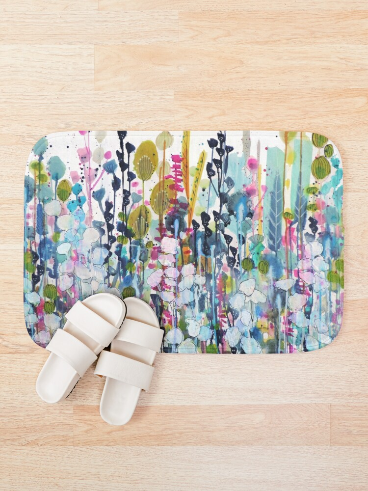 Alternate view of colorful side road Bath Mat
