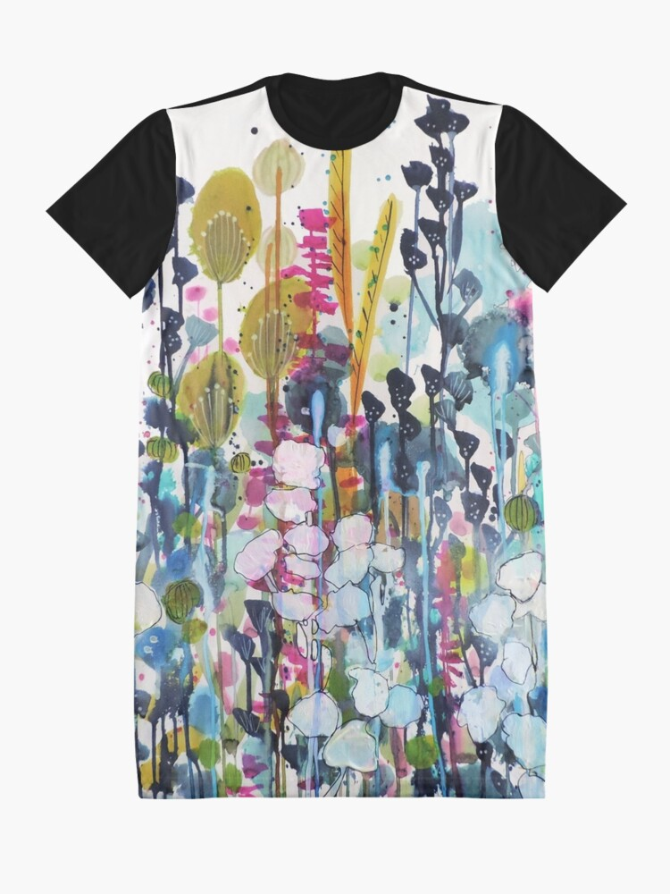 Alternate view of colorful side road Graphic T-Shirt Dress