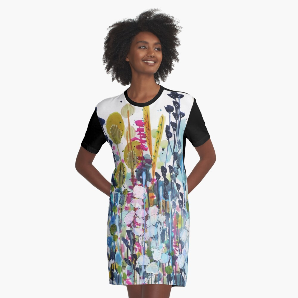colorful side road Graphic T-Shirt Dress