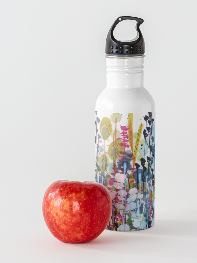 Alternate view of colorful side road Water Bottle