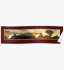 Sunset at Jones Hill (Gympie) Poster