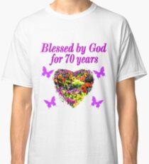 PURPLE WILDFLOWER 70TH BIRTHDAY DESIGN Classic T Shirt