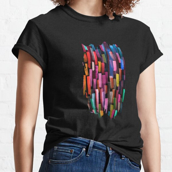 Multicolored watercolor stripes pattern Classic T-Shirt