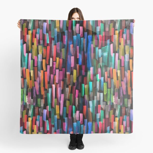 Multicolored watercolor stripes pattern Pañuelo