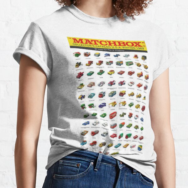 1969 Vintage Matchbox Collector's Catalog Toy Car Poster Classic T-Shirt