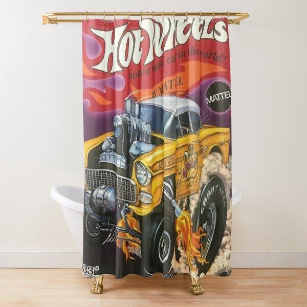 Hot Wheels Gold 55 Gasser Poster Shower Curtain