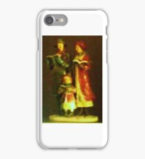 Old Fashioned Christmas Carollers iPhone Case/Skin