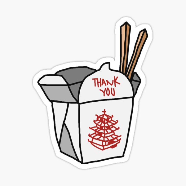 Chinese Food Takeout Sticker