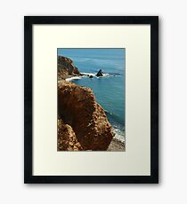 Scenic view in Palos Verdes, Southern California, USA Framed Print