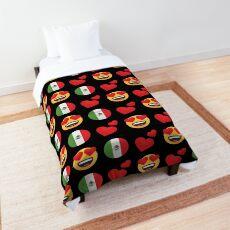 Love Mexican Emoji JoyPixels Travel to Mexico Comforter