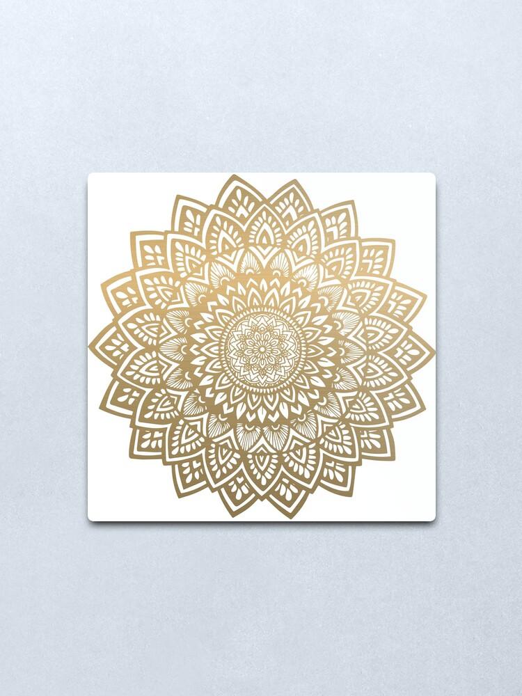 Alternate view of Mandala gold Metal Print