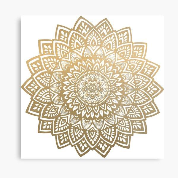 Mandala gold Metal Print