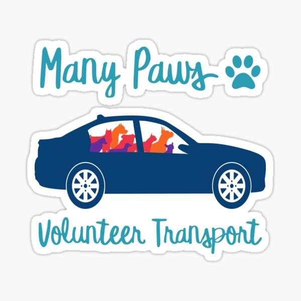Many Paws Volunteer Transport - Rescue Transport Group Sticker