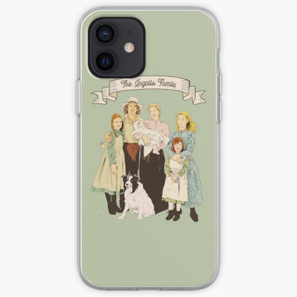 Colorful The Ingalls family in the Little house on the prairie iPhone Soft Case