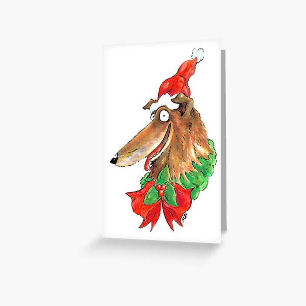 Christmas Collie! Greeting Card
