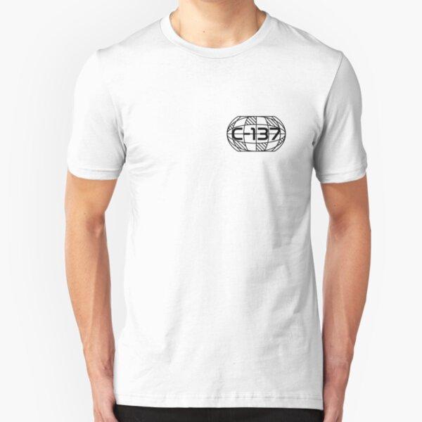 Geometry Planet Earth C-137 Dimension Slim Fit T-Shirt