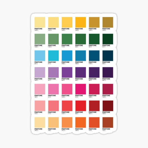 Shades of Pantone Colors Sticker