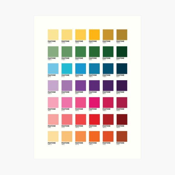 Shades of Pantone Colors Art Print