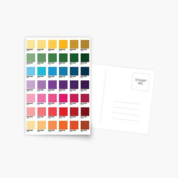 Shades of Pantone Colors Postcard