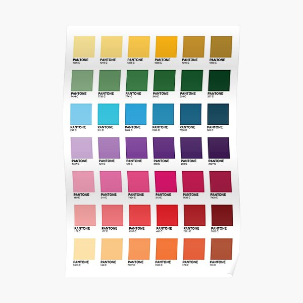 Shades of Pantone Colors Poster