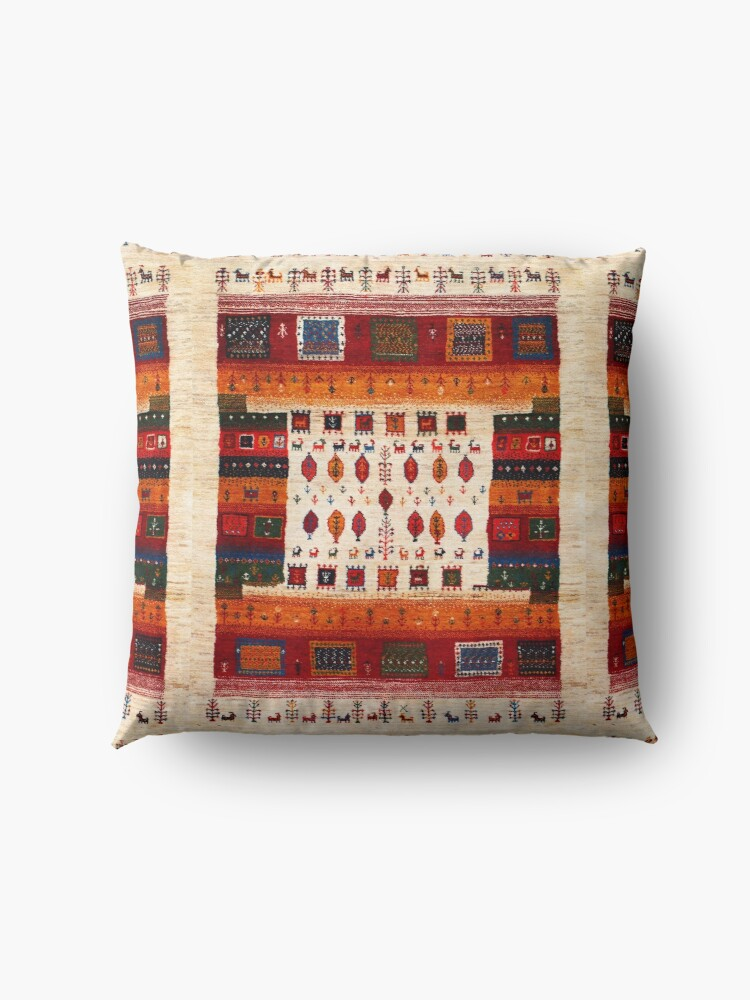 Alternate view of Traditional Moroccan Bohemian Artwork by ARTERESTING Floor Pillow