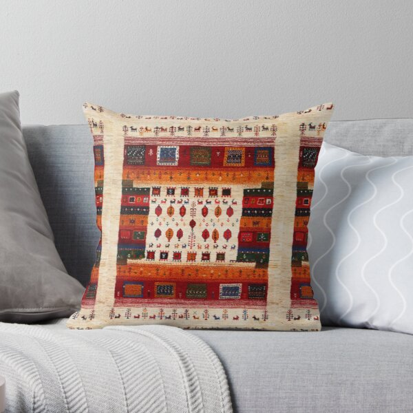 Traditional Moroccan Bohemian Artwork by ARTERESTING Throw Pillow