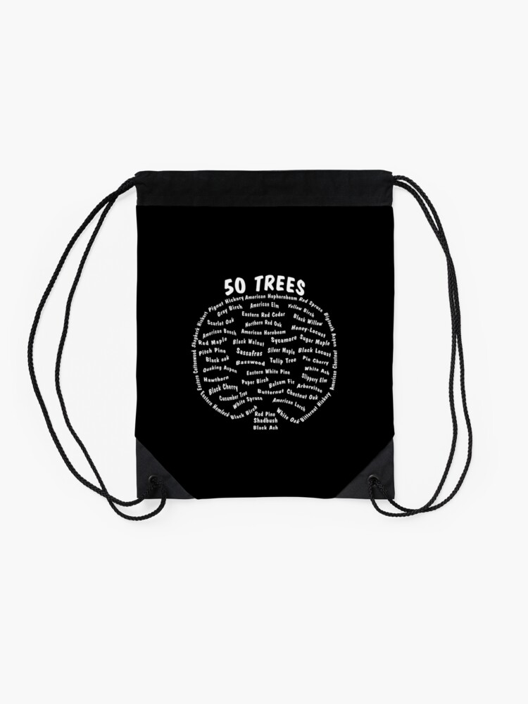 Alternate view of 50 Trees Arbor Day Arborist Plant Tree Forest Gift. Drawstring Bag