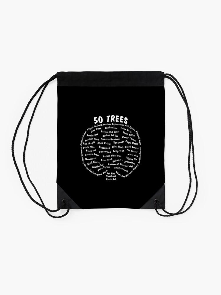 Alternate view of 50 Trees Arbor Day Arborist Plant Tree Forest Gift. Drawstring Bag