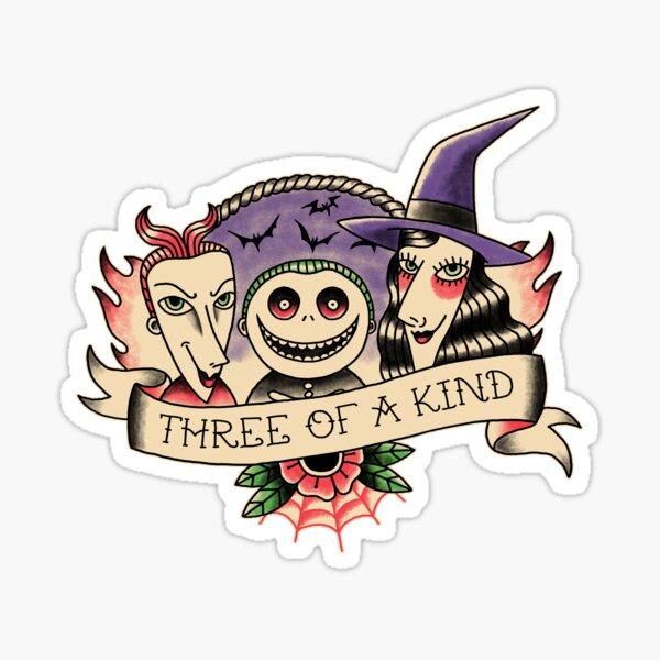 Three of a kind Sticker