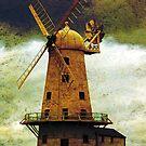 Llancayo Windmill, Usk, Wales by David Carton