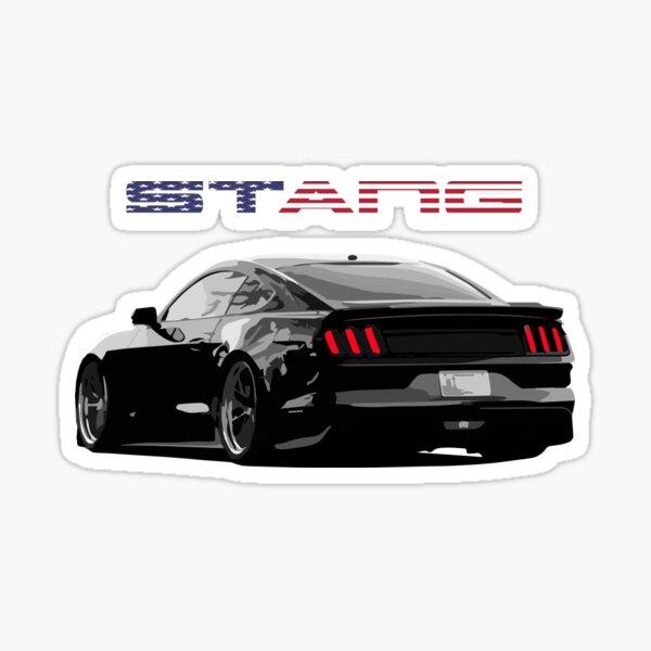 Barres et étoiles Ford Mustang noircies Sticker