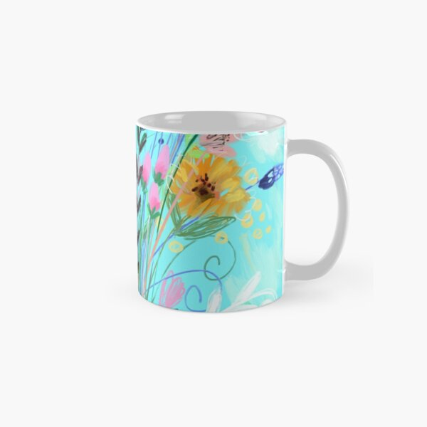 The Sky Is Always Blue With Flowers Apron Classic Mug