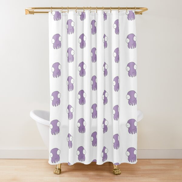 S for Squid Shower Curtain