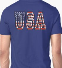 USA, United States of America, Flag, Patriot, America, American, US, on Navy, Blue T-Shirt