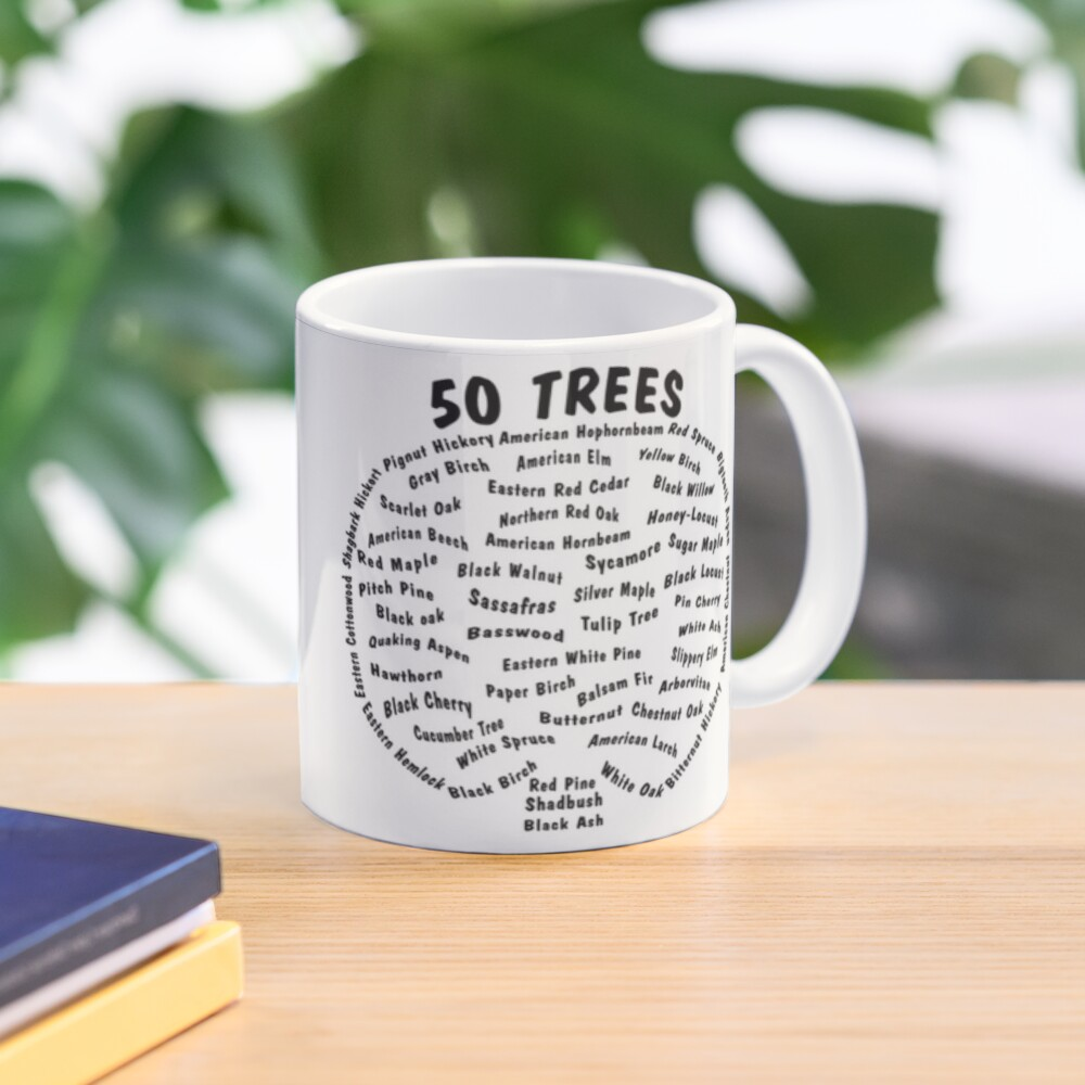 50 Trees Arbor Day Arborist Plant Tree Forest Gift. Mug