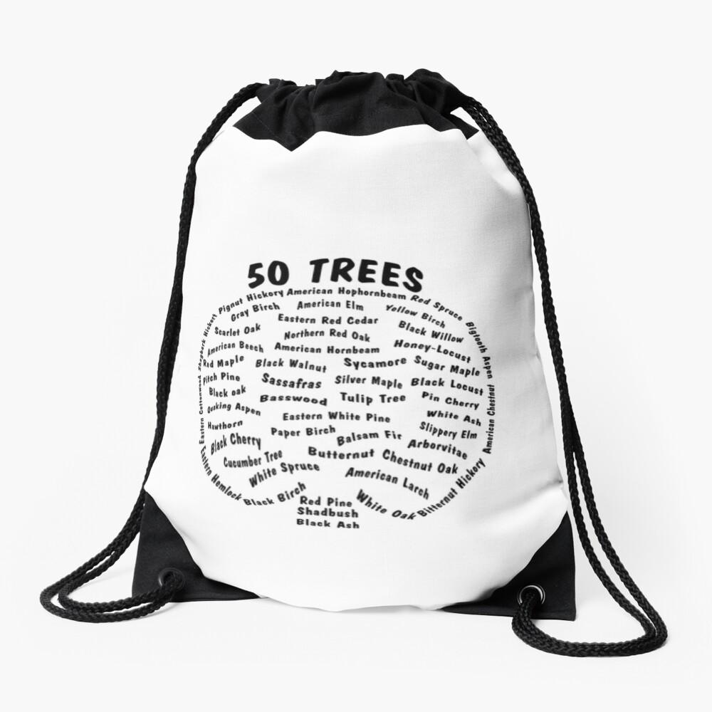 50 Trees Arbor Day Arborist Plant Tree Forest Gift. Drawstring Bag