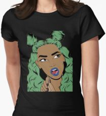 Black Woman  Womens Fitted T-Shirt