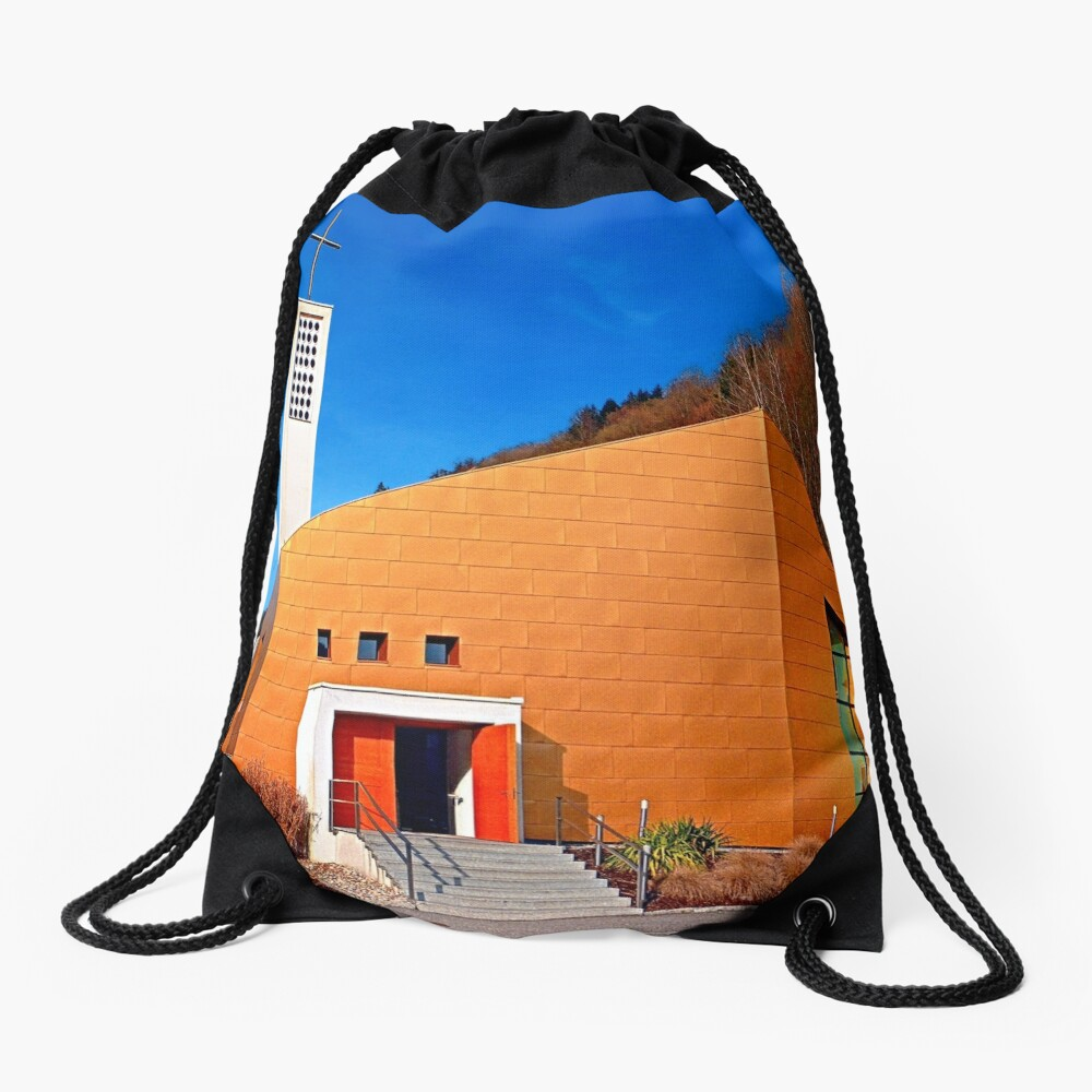 The village church of Obermühl 1 | architectural photography Drawstring Bag