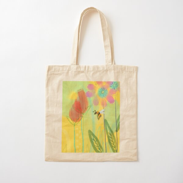 Bumble Bee On A Sunny Day Cotton Tote Bag