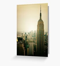 Empire State Building New York Cityscape Greeting Card