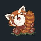 Red panda which holds a tail by Toru Sanogawa