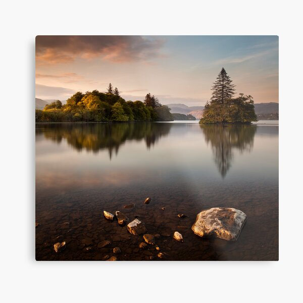 Lough Eske Calm Metal Print