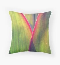 Color in leaves Throw Pillow
