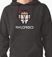 Ryu from Street Fighter goes Google Android Style Pullover Hoodie