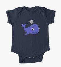 Blue Whale! One Piece - Short Sleeve